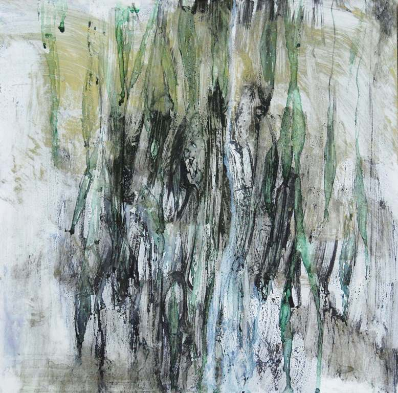 Weeping Willow 15 Mixed technique on paper 37x37 cm 2015