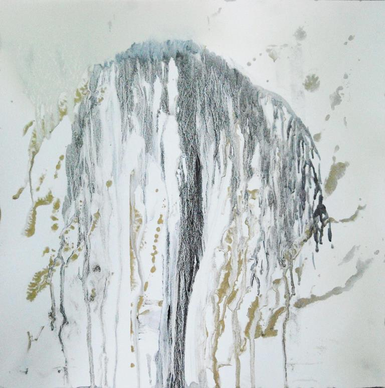 Weeping Willow 19 Mixed technique on paper 37x37 cm 2015