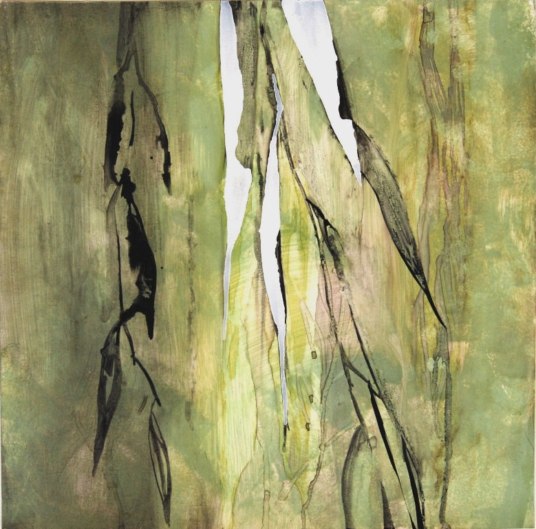 Weeping Willow 4 Mixed technique on paper 37x37 cm 2015