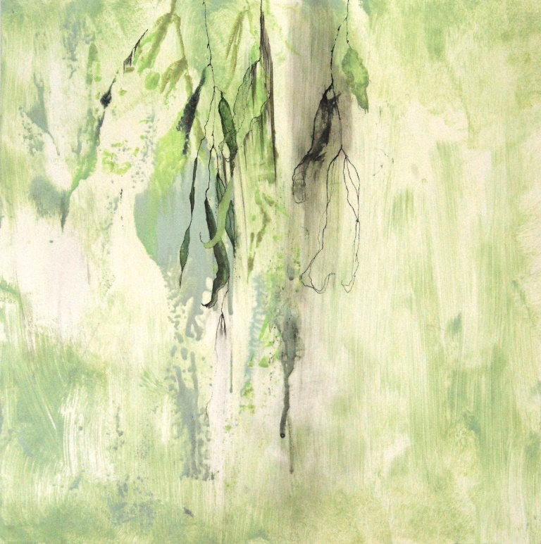 Weeping Willow 5 Mixed technique on paper 37x37 cm 2015