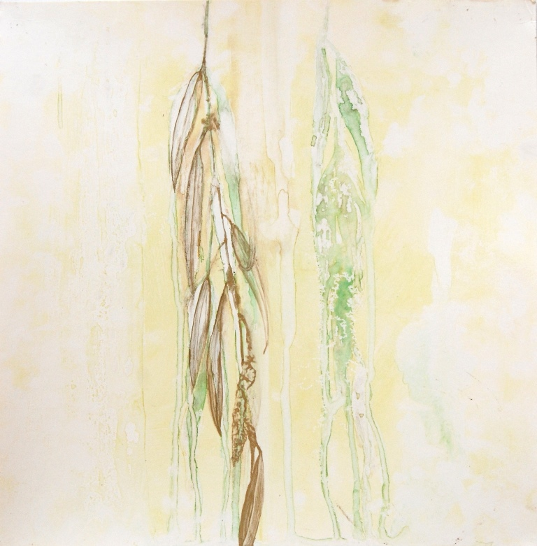 Weeping Willow 6 Mixed technique on paper 37x37 cm 2015