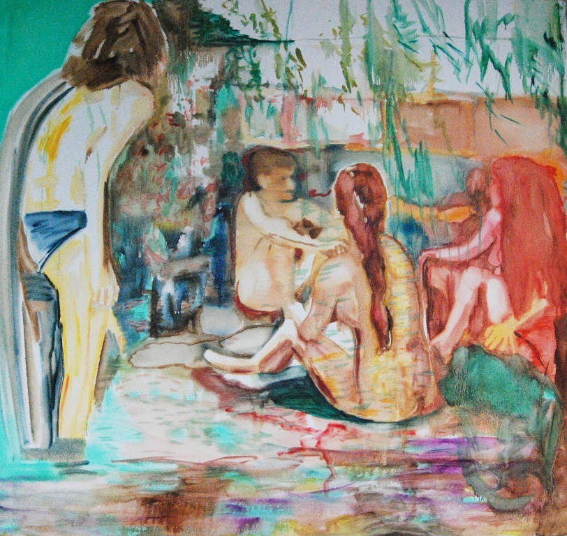 Bathing Oil on canvas 170x180 cm 2017
